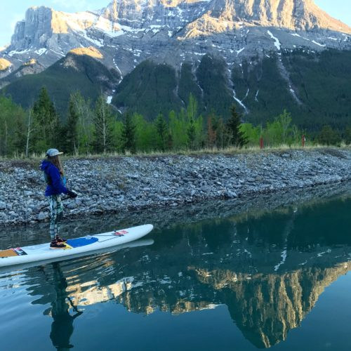 SUP at Canmore Reservoir